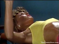 Fucking an 80s gym girl in retro episode