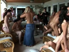 Sexy summer party with an orgy of sucking and fucking