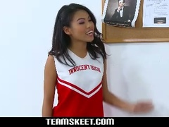 Innocent high petite asian cheerleader cindy starfall gets nailed