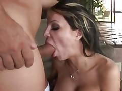 Danielle Derek throat fucks a stiff skin flute