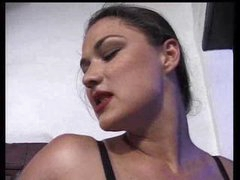 Submissive Ebony Licking His Mistress Feet