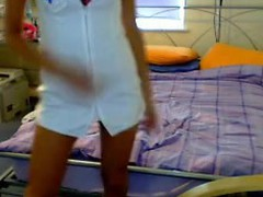 Nurse Strips On Live CAm Fans