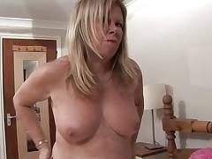 european mature takes off her panties