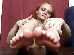 she indeed loves the feet