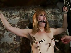 skinny blonde tied and punished merciless