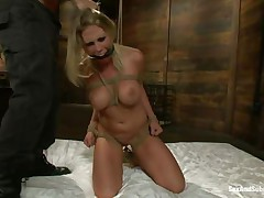 blonde babe tied humiliated and fucked in the mouth hardcore