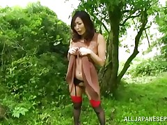 tied to the tree and drilled deeply