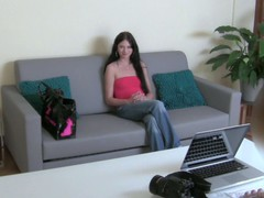 Beautiful Lara bends over to let stud penetrate her from behind