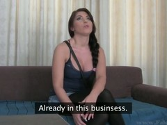 Big tits Bijou is smitten by the hardness of stud's male rod
