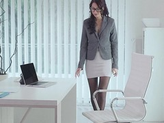 Naughty secretary having a little surpise