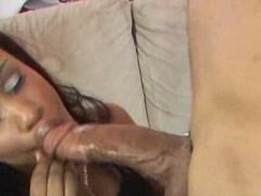 Kiana Jayde gets full load in her face