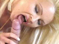 Classy hot blonde is into erotic sex