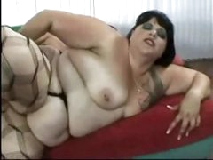 Chubby fuck in nylons screwed in the ass