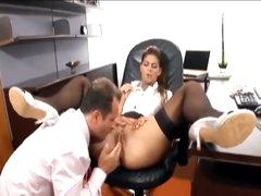 His secretary loves a big boner in her hole