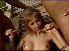 Big Breasted MILF In Lingerie Fucked Hard In Threesome