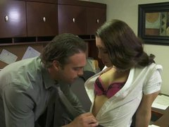 Gorgeous Brunette Office Whore Gracie Glam Gets Fucked Hardcore Style