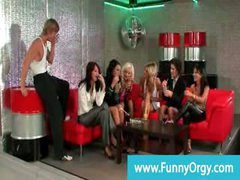Fancy rich girls night out acquires naughty