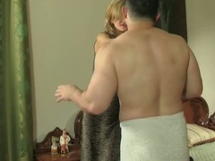 Cheating european boyfriend acquires busty with panties in his pocket