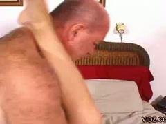 Midget blonde slut likes stroking luscious big dicks