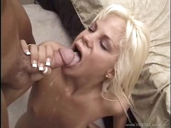 Raunchy Shay Sweet acquires her mouth filled with warm jizz